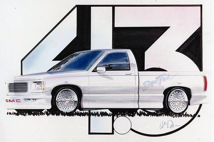 1987 Syclone Concept Sketch